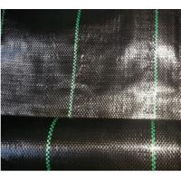 China Anti-grass Cloth Weed Mat With Black Color PP Woven Geotextile on sale