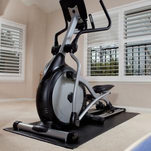 China Indoor Anti Slip Aerobics Bike Trainer Mat Treadmill Noise Reduction Mat wholesale