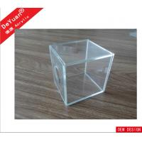 China Simple Transparent Acrylic Holder Stand / Plexiglass Candy Box Cube Handmake wholesale