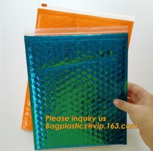 China Flat Envelopes Zip lock Bubble Bag, Low Price Most Popular Bubble Slider Bag,Plastic PE Material Mailer Slider Air Ziplo on sale