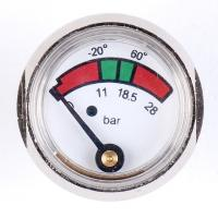 China 1 Inch 25mm Diaphragm Pressure Gauge Fire Extinguisher With Chrome Plated wholesale