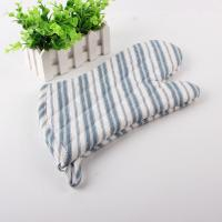 China Polyester 450gsm Filling Cotton Kitchen Oven Mitts Neat Blue And White Strip wholesale