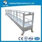 China El acero suspendió el sistema del andamio de la plataforma/de la ejecución de funcionamiento/la elevación de la limpieza del edificio wholesale
