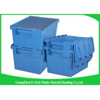 China Colored Logistic  Plastic Attached Lid Containers Easy Stacking Long Service Life wholesale