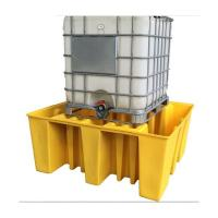 Strong Modified Plastic Spill Pallets , Drum Storage Spill Containment Pallets