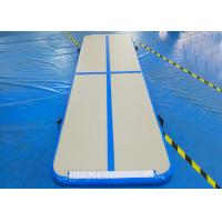 China Practical Inflatable Air Track Mat 3 X 1 X 0.1 M Electric Air Pump With Velcro on sale