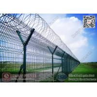 China HESLY Airport Security Fencing with Y post and Concertina Razor Wire wholesale
