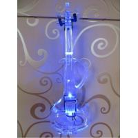 Tianyin Brand Patent S Type Crystal Electric Violin 4/4 With Best Blue LED Light