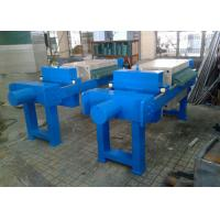 China Blue Plate And Frame Filter Press Equipment , Frame And Plate Filter Press on sale