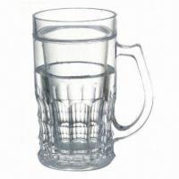China Plastic beer mugs with ice mugs/beer cooler/ice tumbler wholesale