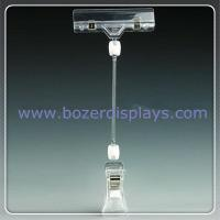 China Double End Advertising Poster Pop Display Clip Holder Clear on sale