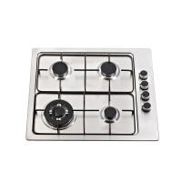 Built In Stainless Steel Gas Hob 4 Burner With High Level Enamel Pan Support