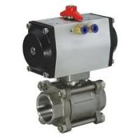 China 1/4 - 4 Pneumatic Ball Valves Water Oil Gas Acid SS Ball Valve -20℃ - 190℃ on sale