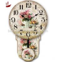 China Colorful rose and fruit rice Luxury Exquisite Home Decoration Modern white dial canvas large decorative clock faces wholesale