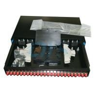 China 24 Ports Rack Mount Fiber Optic Odf 19 FC Slidable Type For TIC Certification wholesale