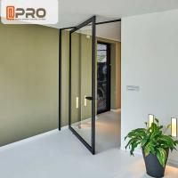 China Thermal Break Aluminum Pivot Doors Color Optional For Residential And Commercial wholesale