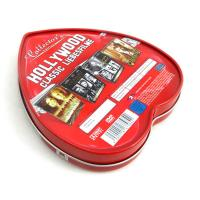 China Heart shape custom tin boxes with insert inside on sale