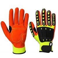 China Mechanical Anti Impact Gloves With TPR Knuckle Protection For Oil / Gas Safety wholesale