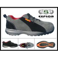 China Men's sport shoes with composite toe safety shoes suede shoes online grey on sale