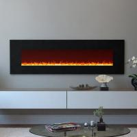 "China 95"" wall mounted electric  fireplace multi-colorful flame effect log or crystal stone fuel Under TV decorating Room wholesale"