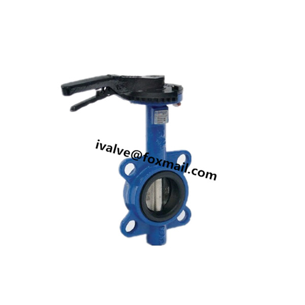 Quality 2 Inch Wafer Type Cast Iron Butterfly Valve for sale