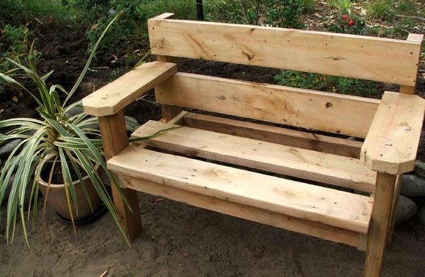 Изготовление деревянных скамеек своими руками видео