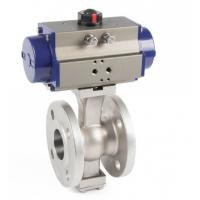 China 2 Inch V Type Ball Valve Full Port Pneumatic Actuators Electric Actuators wholesale