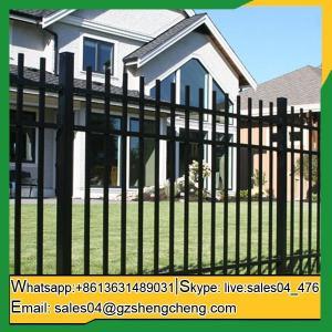China Laverton Cheap wrought iron fence panels front yard Fence panels square tube fencing wholesale