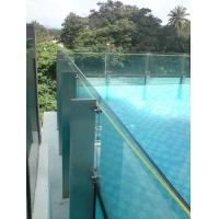 China Clear Laminated Pool Fencing Glass PVB Single Glass Thick 19 mm wholesale