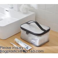 China Clear Toiletry Makeup Bag, Travel Case, Cosmetic Organizer PVC Plastic w/Handle,Travel Organizer for Women & Man, Polyes wholesale