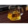 China Customizable Square heat-resistant high temperature glass Kung Fu tea set thickened fair cup tea leak tea sea square cup wholesale