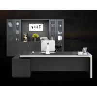 China Black Commercial Office Furniture , Office Desk Furniture Multi Functional Modular on sale