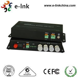 China RS485 Data HD SDI To Fiber Optic Converter 1080P Video Forward / Aux Audio Backward on sale
