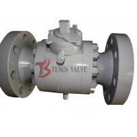 China Forged Steel Three Piece Ball Valve Trunnion Mounted Soft Seated 150LB - 2500LB wholesale