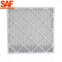 Paper Frame Disposable Panel Air Filter Primary Efficiency For AHU System