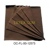 China 100& organic cotton fleece fabric in brown color on sale