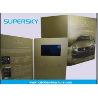 China Rechargeable LCD Video Brochure , Video In Print Brochure For Advertising wholesale