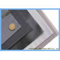 China SUS 304 Fly Screen Mesh , Stainless Steel Insect Screen Mesh Roll Nature Color wholesale