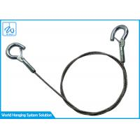China High Tensile Stainless Steel Wire Rope Sling 1/16 With Double Spring Hook on sale