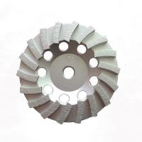 China Double Turbo Metal Bonded Diamond Grinding Wheel For Concrete Surface Grinding wholesale