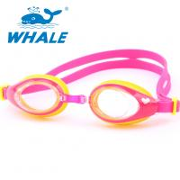 Buy cheap Shatterproof Silicone Swimming Goggles PC Material With Leak Proof UV Protection from wholesalers