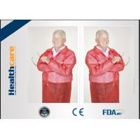 China Conformable Medical Disposable Laboratory Coats With Pocket Collar Knitted Anti - Fluid wholesale