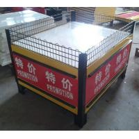 China Folding Metal Promotion Supermarket Display Racks With Powder Coated SGS ISO9001 wholesale