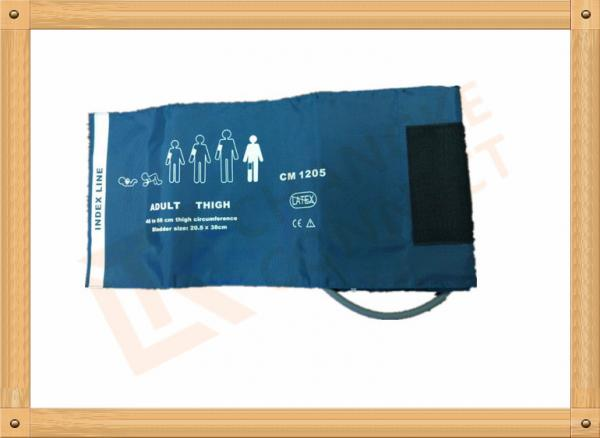 Quality Light Green Non Invasive Blood Pressure Cuff  Reusable NIBP cuff Thigh Use Nylon for sale