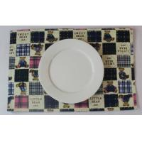 Fashionable Embroidery Dining Table Mats With Cute Bear Printed