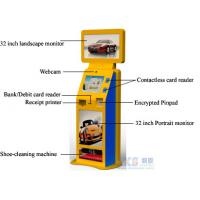 China Shoe-cleaning Machine Free Standing Kiosk Three Screens Only One PC Controls on sale