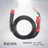 China 15AK CO2 gas welding torch with handle , Air cooled gas MIG MAG torch wholesale