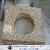 China Beige Sink Countertops, Yellowish Granite Sink Table Tops wholesale