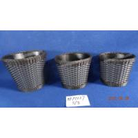 China poly rattan zinc pot wholesale
