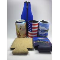 China Customized Neoprene can beer stubby cooler holders with lanyard on sale